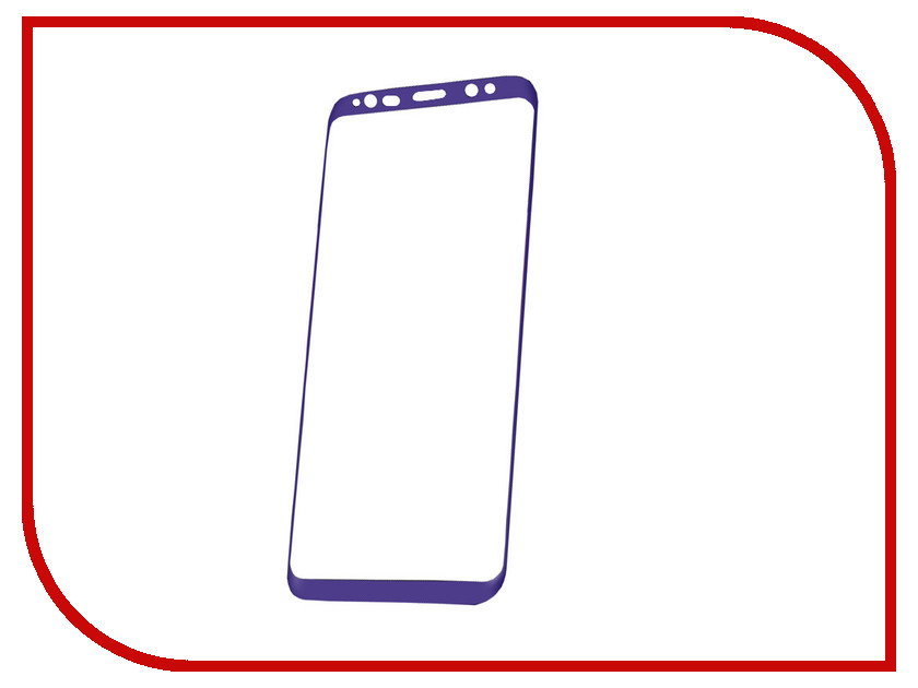 Аксессуар Защитное стекло Samsung Galaxy S8 Plus Red Line Full Screen 3D Tempered Glass Purple аксессуар защитное стекло samsung galaxy a3 2017 solomon full cover black