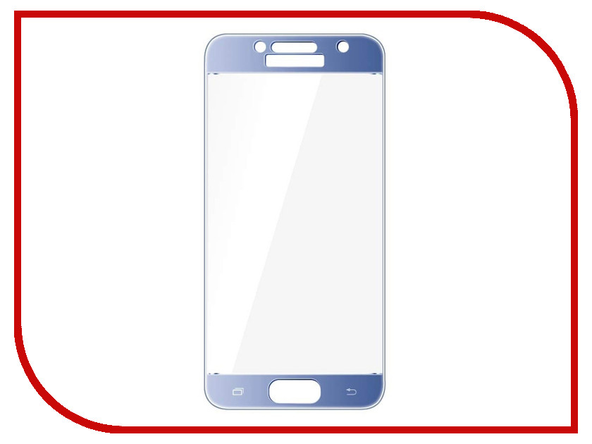 Аксессуар Защитное стекло Samsung Galaxy A5 2017 5.2 Red Line Full Screen Tempered Glass Blue аксессуар защитное стекло samsung galaxy a3 2017 solomon full cover black