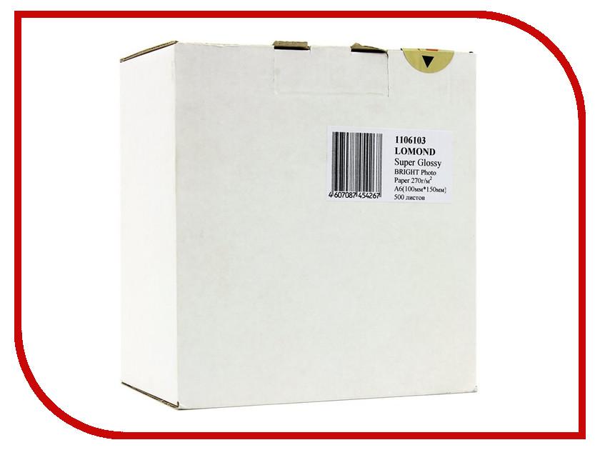 Фотобумага Lomond 1106103 суперглянцевая A6 270g/m2 500 листов new and original xbe dr16a ls lg plc controller