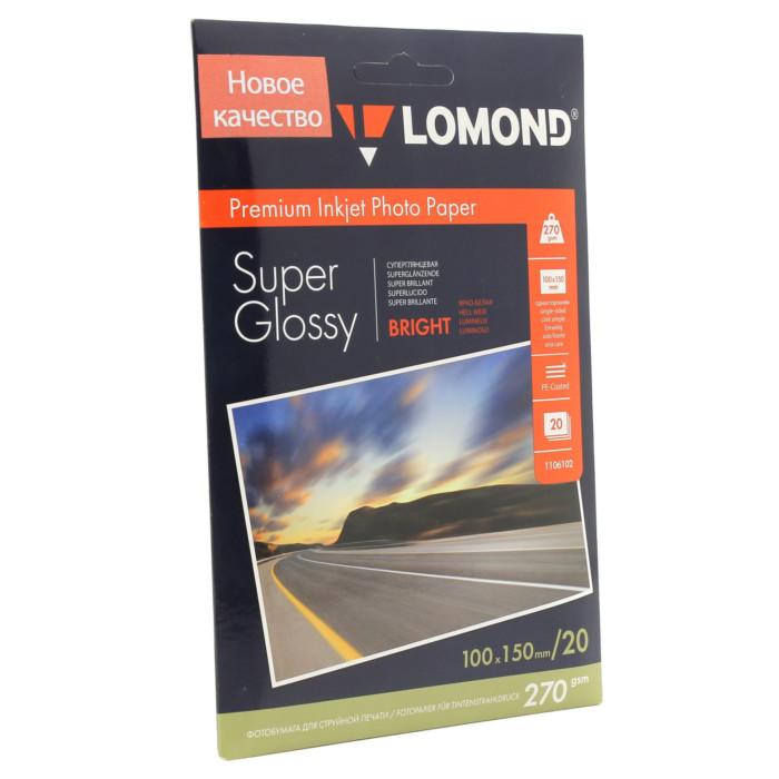 Фотобумага Lomond A6 270g/m2 суперглянцевая 20 листов 1106102