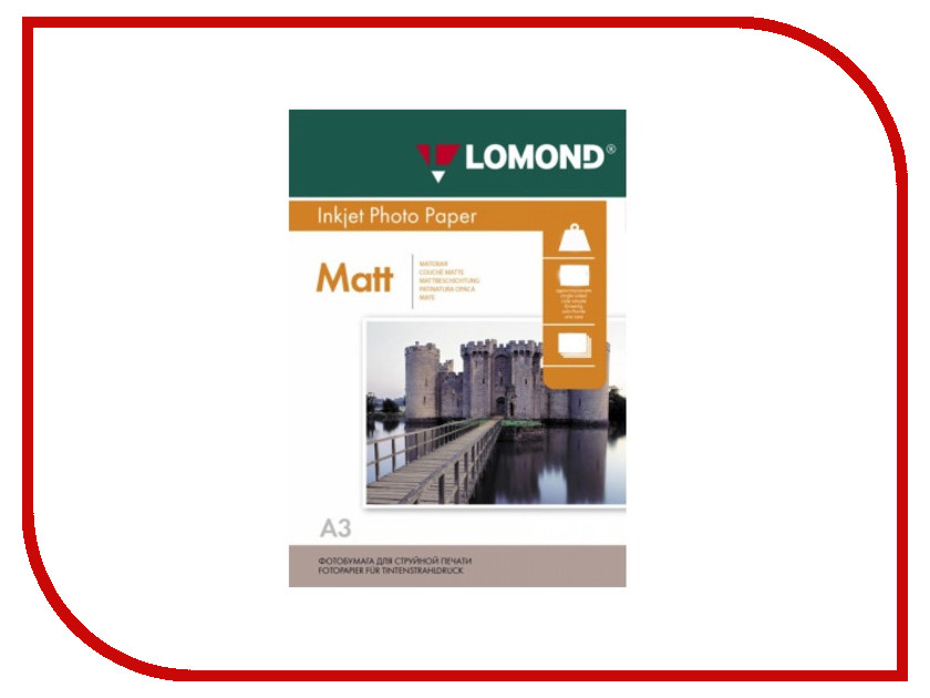 Фотобумага Lomond 102156 матовая A3 230g/m2 одностороняя 50 листов фотобумага lomond a3 1106302 1106302