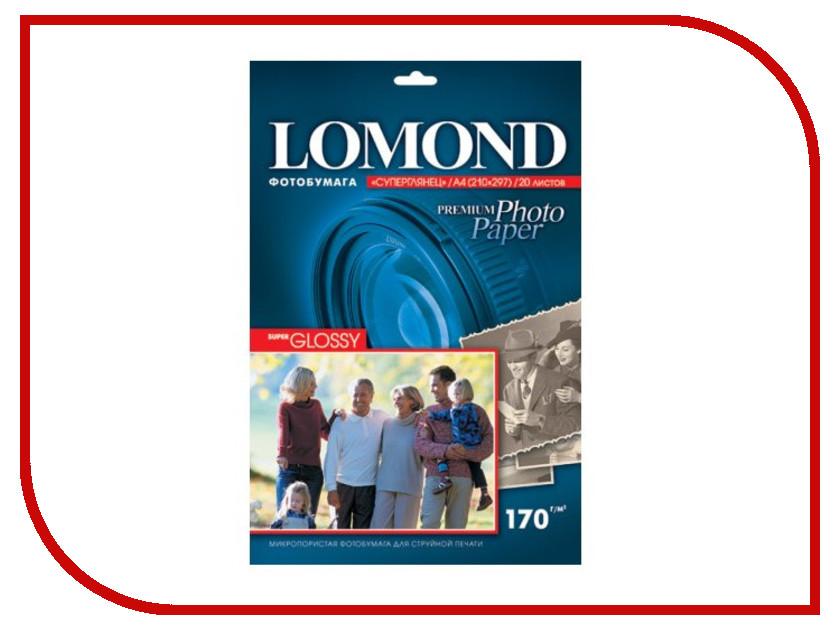 Фотобумага Lomond 1101101 суперглянцевая A4 170g/m2 20 листов