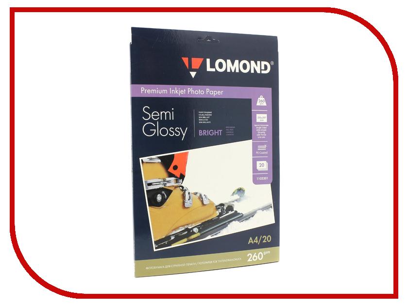 Фотобумага Lomond 1103301 полуглянцевая A4 260g/m2 20 листов наборы для поделок centrum набор ручек для tату
