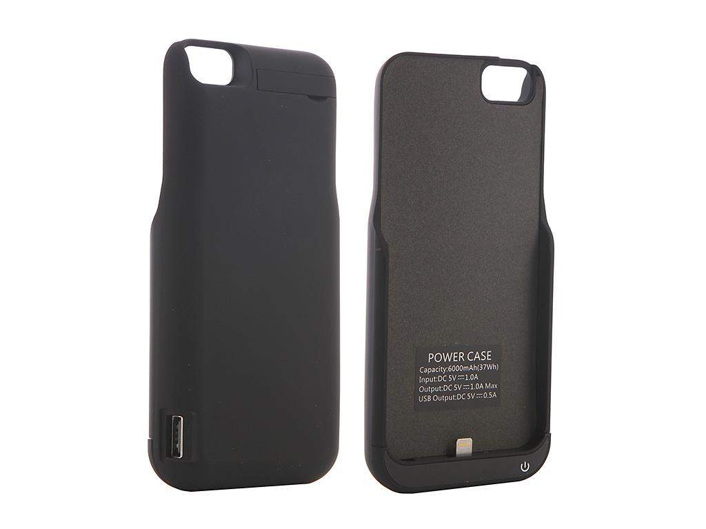 Аксессуар Чехол-аккумулятор для APPLE iPhone 6 / 6S / 7 Red Line Power Case 6000 mAh Black УТ000010678