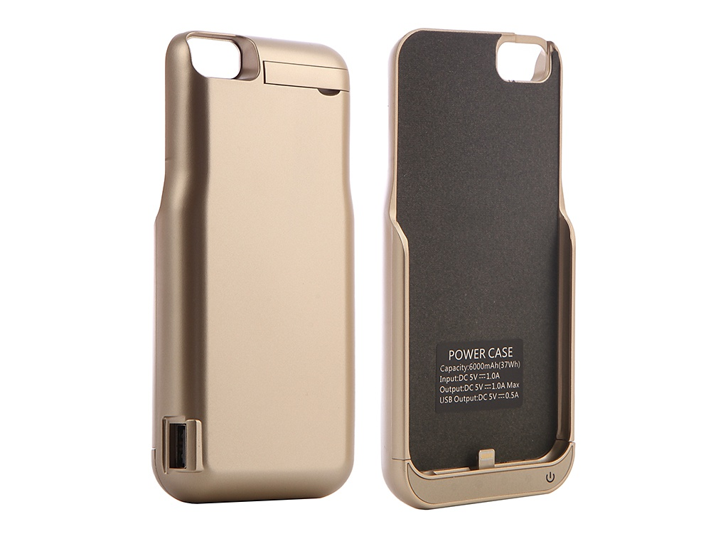 Чехол-аккумулятор Red Line для APPLE iPhone 6 / 6S 7 Power Case 6000 mAh Gold УТ000010676