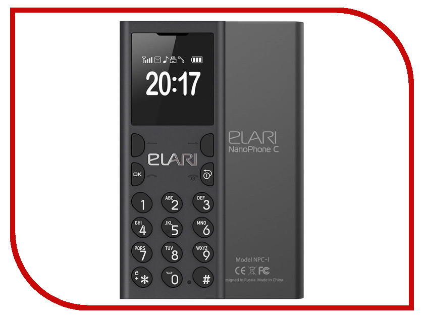 Сотовый телефон Elari NanoPhone C Black кардридер elari smartcable
