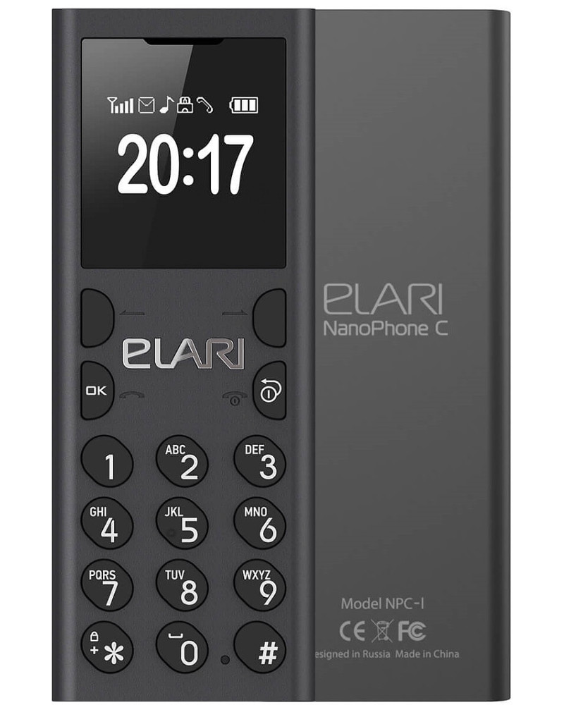 Сотовый телефон Elari NanoPhone C Black elari nanophone c