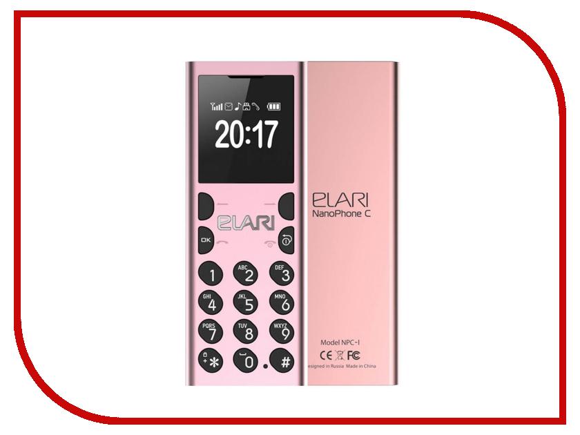 Сотовый телефон Elari NanoPhone C Pink аксессуар чехол elari для elari cardphone и iphone 6 plus blue