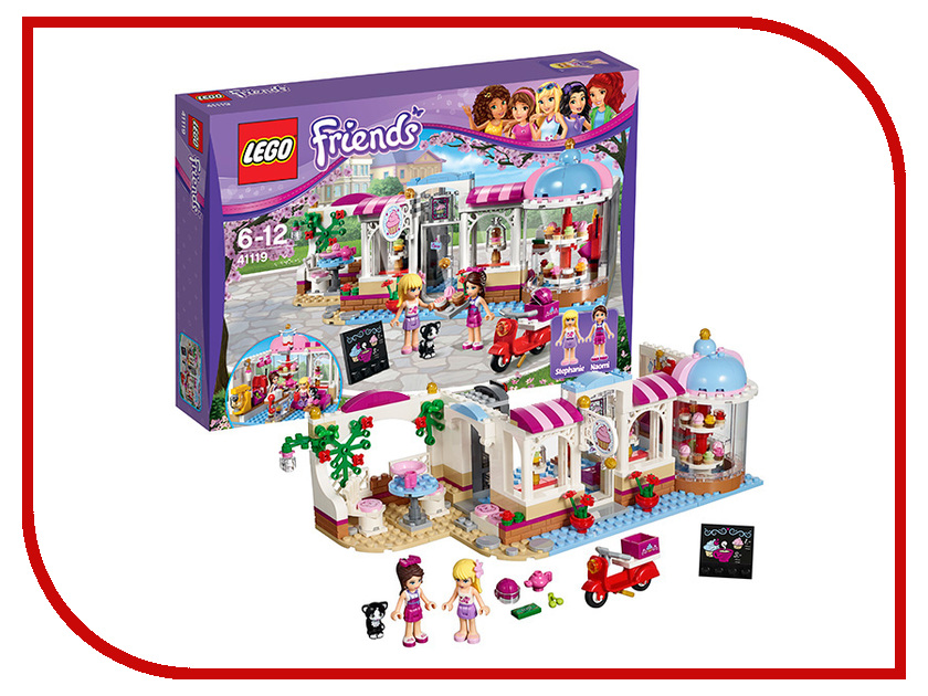 Конструктор Lego Friends Кондитерская 41119 cheap price inflatable water swing water rocker float pool toys blue water slide water game with pump
