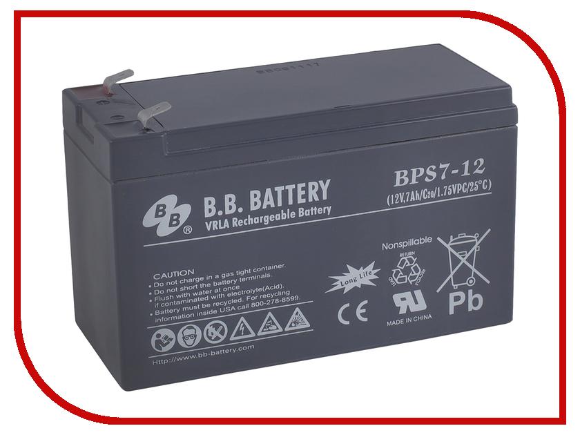 Аккумулятор для ИБП B.B.Battery BPS 7-12 аккумулятор для ибп apc 106 apcrbc106