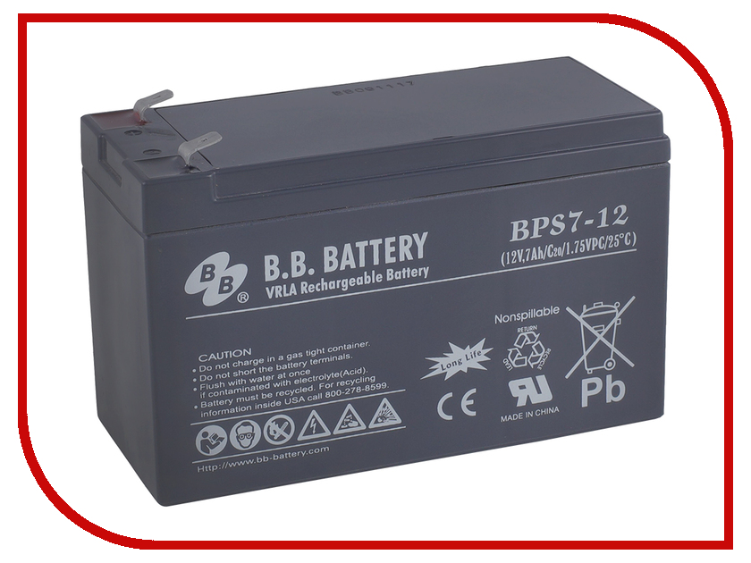 Аккумулятор для ИБП B.B.Battery BPS 7-12