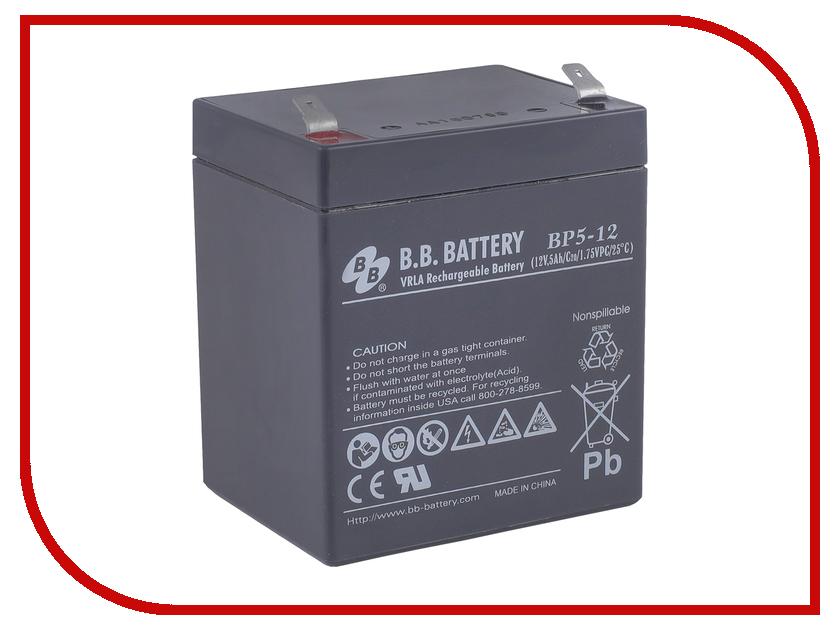 Аккумулятор для ИБП B.B.Battery BP 5-12 аккумулятор для ибп apc 106 apcrbc106