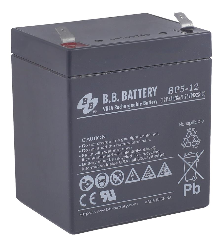 Аккумулятор для ИБП B.B.Battery BP 5-12 аккумулятор для ибп ventura gpl 12 120