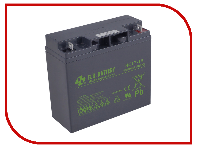 Аккумулятор для ИБП B.B.Battery BC 17-12 bc 30 power charger for topcon surveying instruments