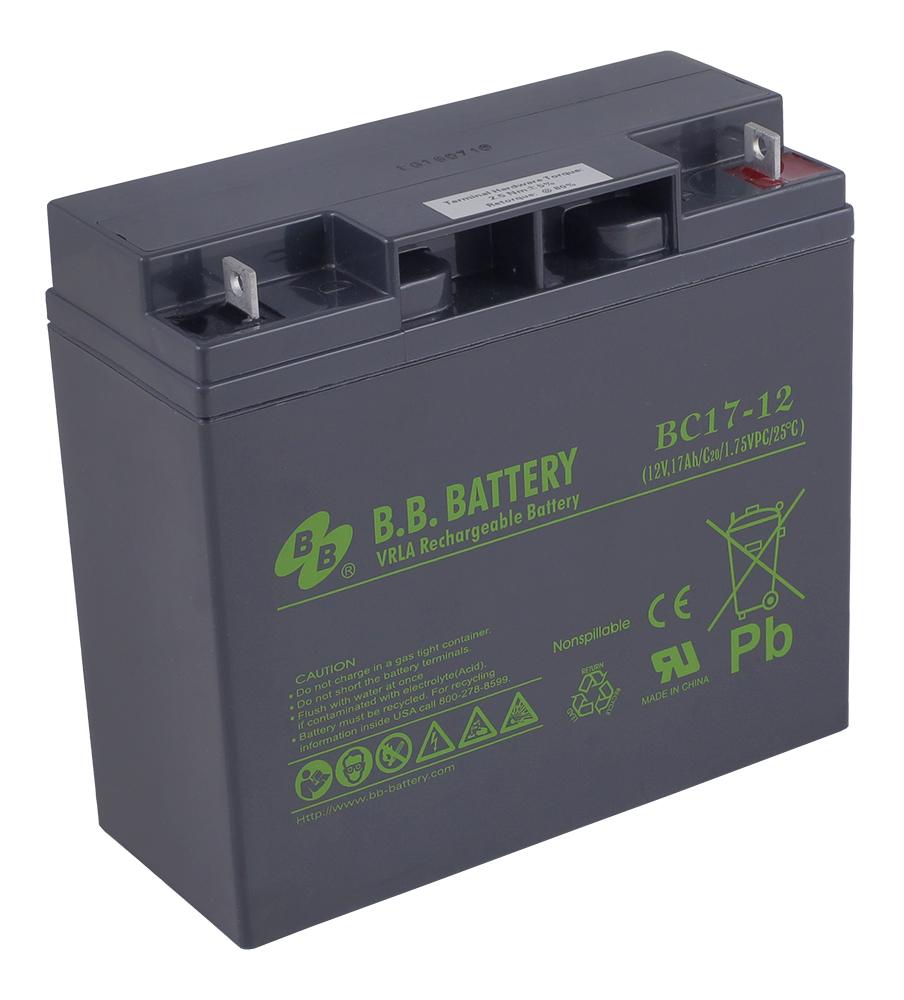 Аккумулятор для ИБП B.B.Battery BC 17-12 аккумулятор для ибп ventura gpl 12 120