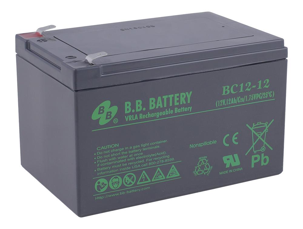 Аккумулятор для ИБП B.B.Battery BC 12-12 аккумулятор для ибп ventura gpl 12 120