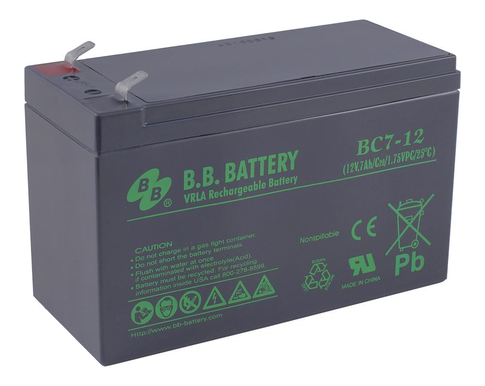 Аккумулятор для ИБП B.B.Battery BC 7-12 аккумулятор для ибп ventura gpl 12 120