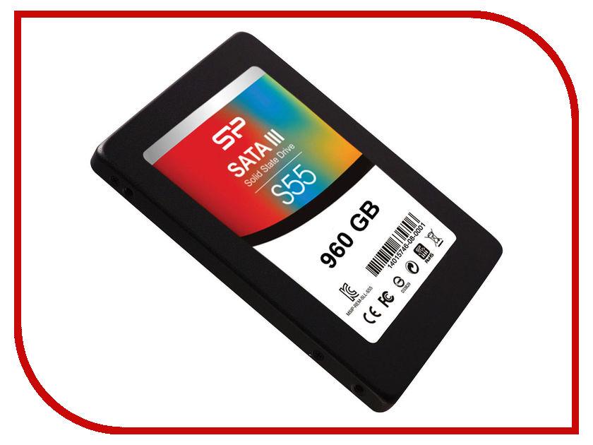 Жесткий диск 960Gb - Silicon Power SSD S55 SP960GBSS3S55S25 sp008gbuf2u06v1b silicon power