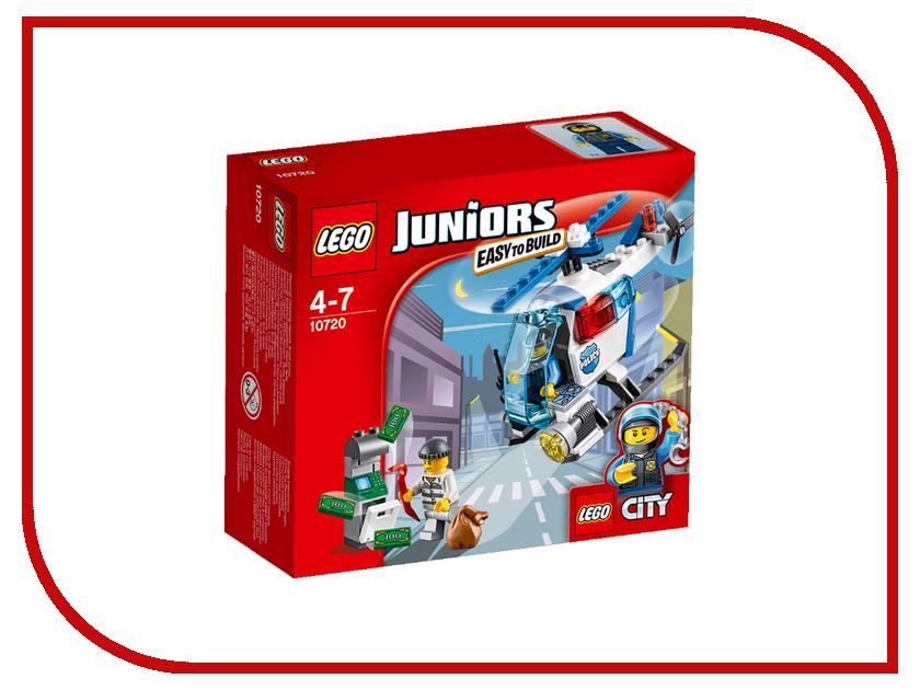Конструктор Lego Juniors Погоня на полицейском вертолёте 10720 конструктор lego juniors ветеринарная клиника мии 10728
