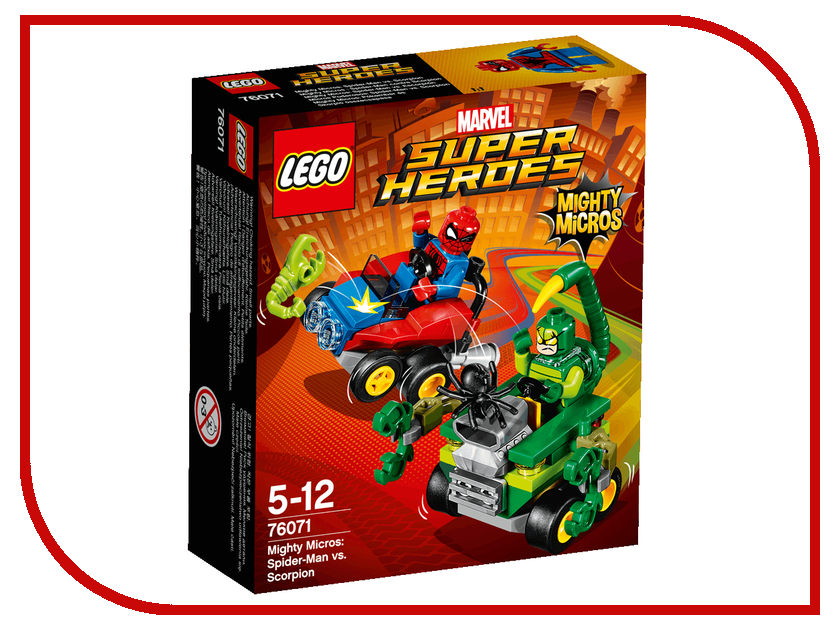 Конструктор Lego Super Heroes Человек-паук против Скорпиона 76071