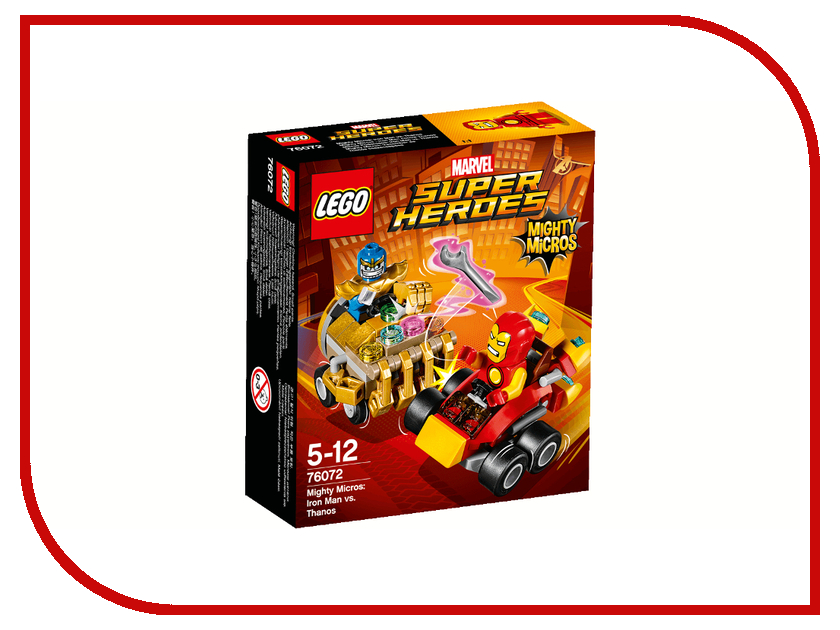 Конструктор Lego Super Heroes Железный человек против Таноса 76072 конструкторы lego lego super heroes mighty micros железный человек против таноса 76072