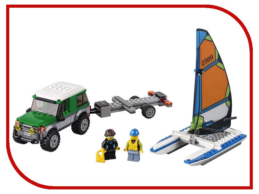 Конструктор Lego City Great Vehicles Внедорожник с прицепом для катамарана 60149 lego city конструктор внедорожник каскадера 60146