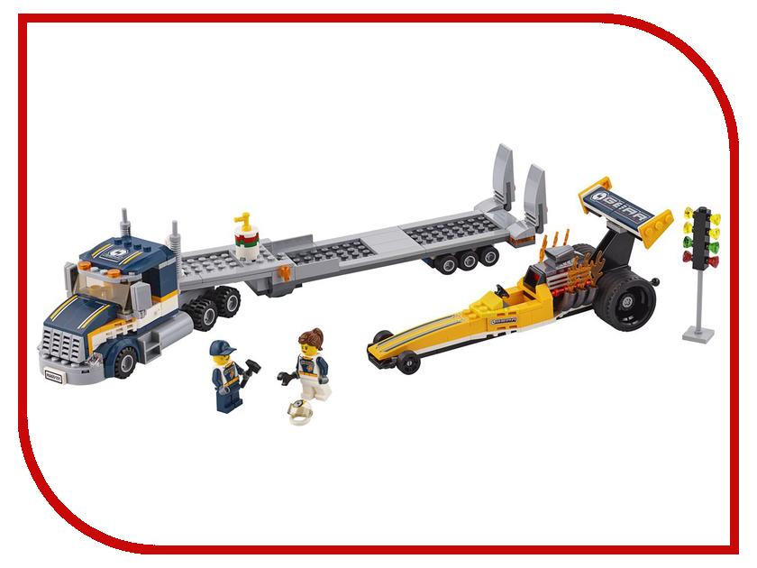 Конструктор Lego City Great Vehicles Грузовик для перевозки драгстера 60151 конструкторы lego lego city great vehicles рыболовный катер 60147