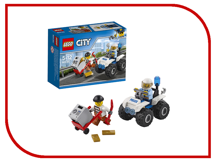 Конструктор Lego City Police Полицейский квадроцикл 60135 electornic pager call button system software display with wrist watch table buzzer and menu holder for restaurant