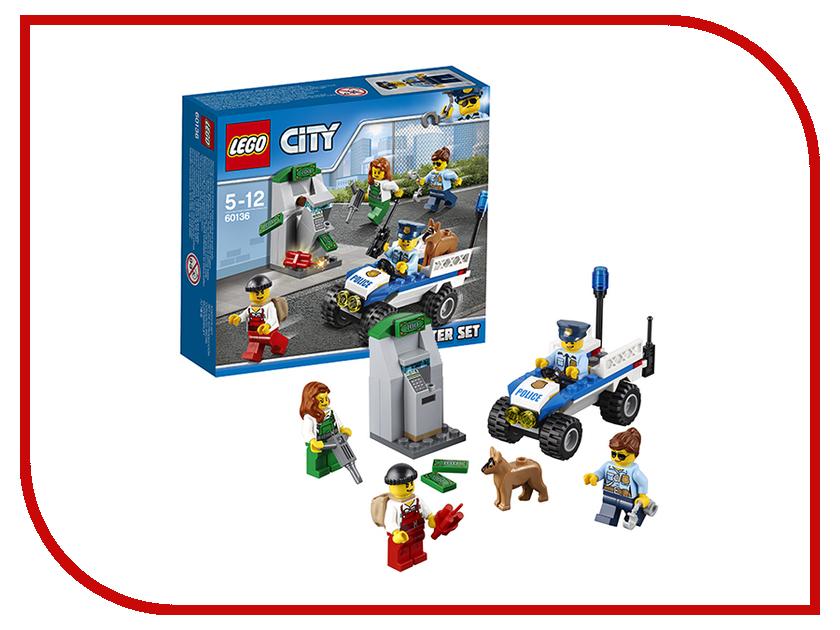 Конструктор Lego City Police Набор для начинающих Полиция 60136 конструкторы lego lego игрушка город набор для начинающих остров тюрьма модель 60127 city