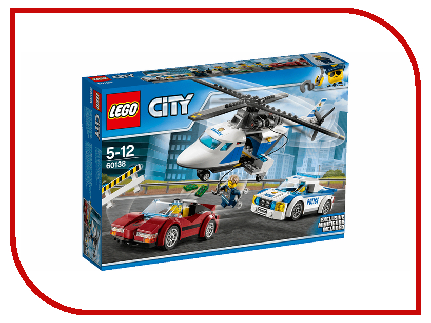 Конструктор Lego City Police Стремительная погоня 60138 model building kits compatible with lego city police car boat water patrolcity 3d blocks educational model building toys hobbies