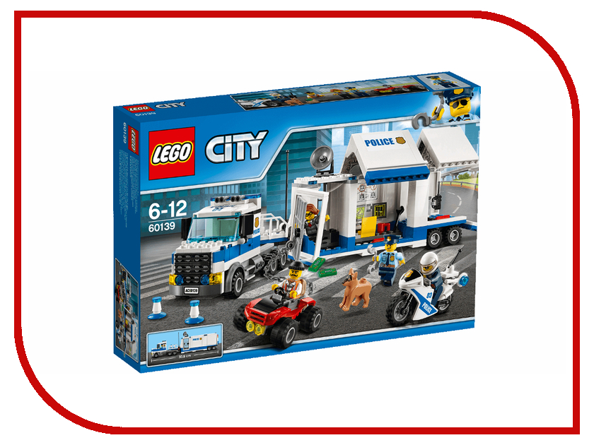 Конструктор Lego City Police Мобильный командный центр 60139 1110 city series police swat car model building block bricks diy toys children compatible legoes gift kid set city policeman