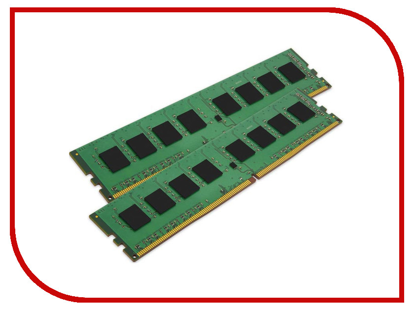 Фото Модуль памяти Kingston DDR4 DIMM 2400MHz PC4-19200 CL17 - 16Gb KIT (2x8GB) KVR24N17S8K2/16