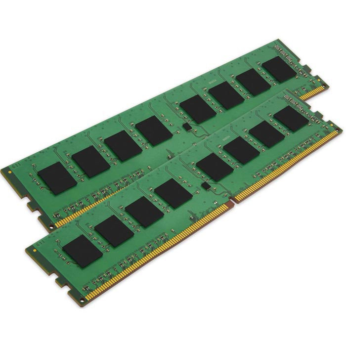 Модуль памяти Kingston DDR4 DIMM 2400MHz PC4-19200 CL17 - 16Gb KIT (2x8GB) KVR24N17S8K2/16
