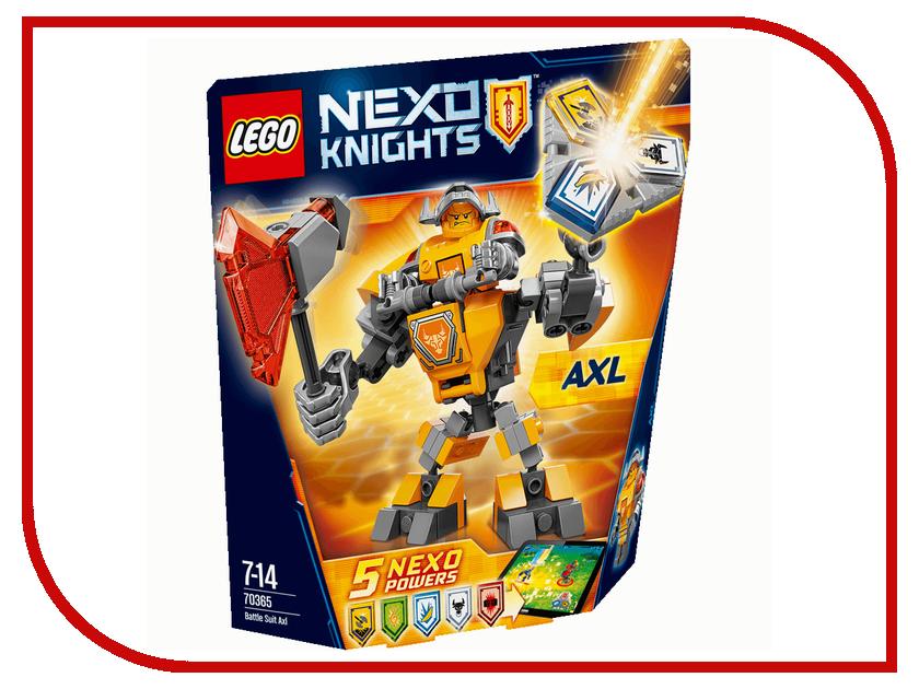 Конструктор Lego Nexo Knights Боевые доспехи Акселя 70365 lego lego nexo knights 70322 башенный тягач акселя