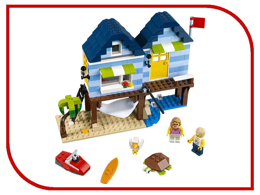 конструктор lego creator реактивный самолет 31042 Конструктор Lego Creator Отпуск у моря 31063