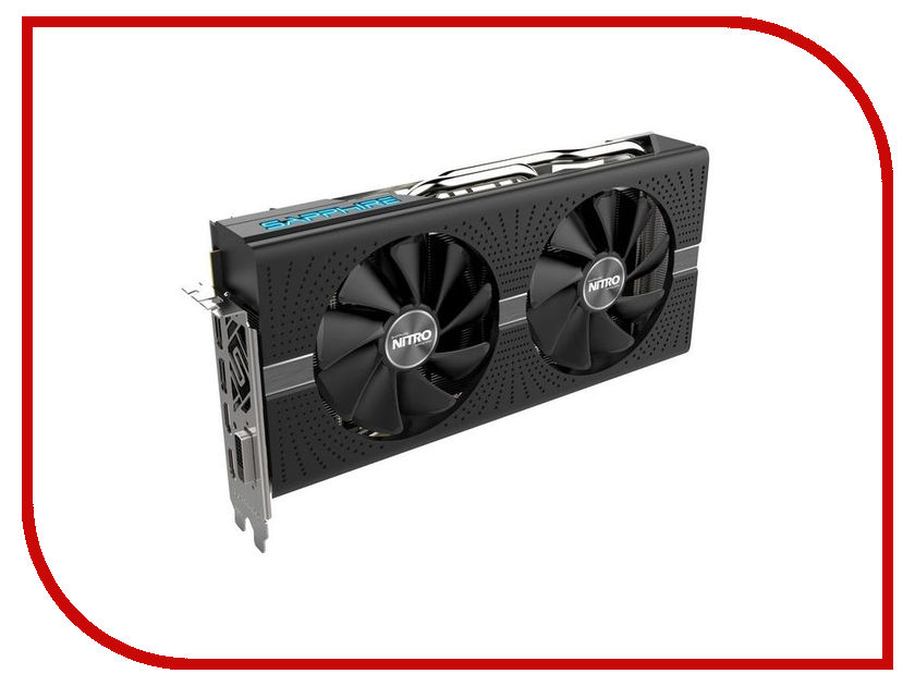 Видеокарта Sapphire Nitro+ Radeon RX 570 4GD5 1340Mhz PCI-E 3.0 4096Mb 7000Mhz 256 bit DVI 2xHDMI 11266-14-20G видеокарта sapphire 21275 02 20g