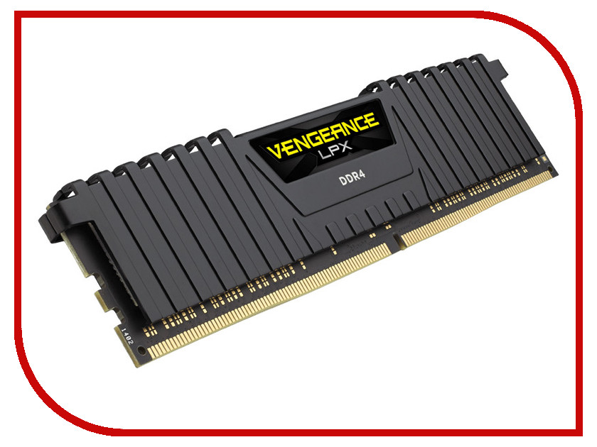 Модуль памяти Corsair Vengeance LPX DDR4 DIMM 2400MHz PC4-19200 CL16 - 16Gb CMK16GX4M1A2400C16