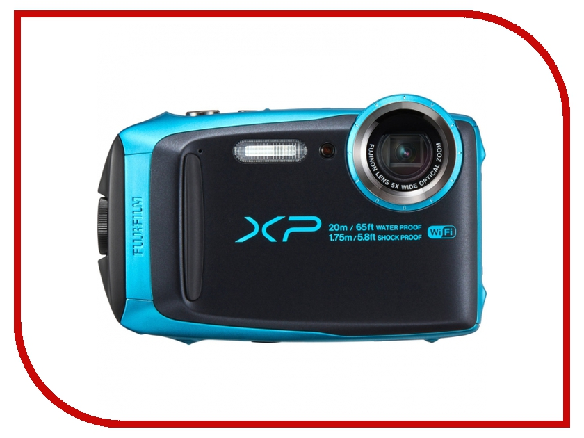 Фотоаппарат FujiFilm FinePix XP120 Sky Blue фотоаппарат компактный fujifilm finepix xp120 sky blue