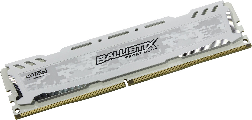 Модуль памяти Crucial Ballistix Sport LT White DDR4 UDIMM 2400MHz PC4-19200 CL16 - 8Gb BLS8G4D240FSCK crucial ct8g4dfd8213 ddr4 8гб pc4 17000 2133 udimm