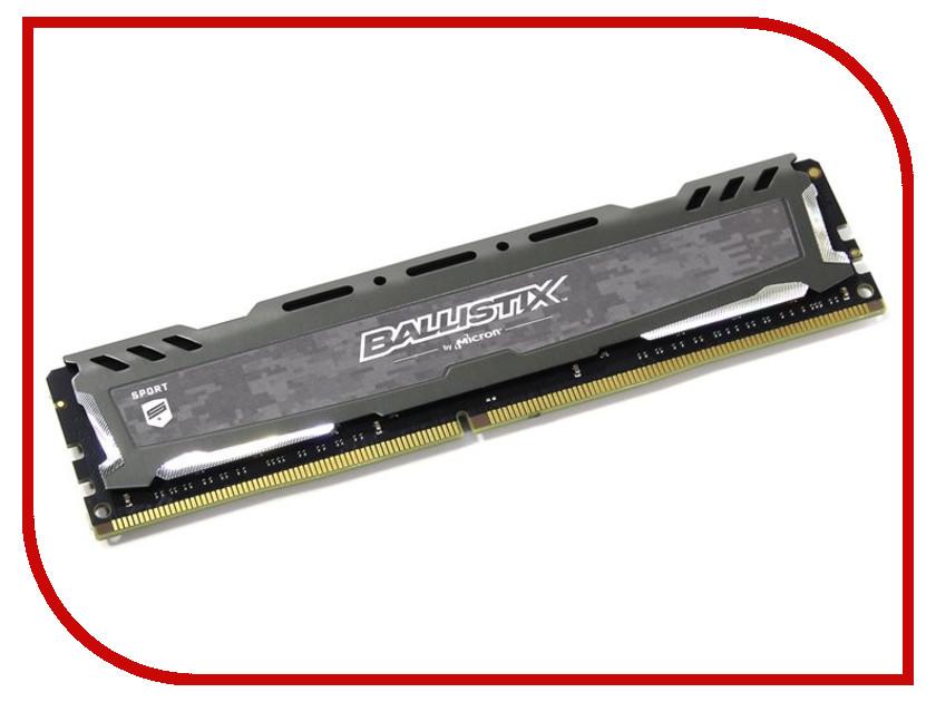 все цены на Модуль памяти Crucial Ballistix Sport LT Gray DDR4 UDIMM 2666MHz PC4-21300 CL16 - 8Gb BLS8G4D26BFSB онлайн