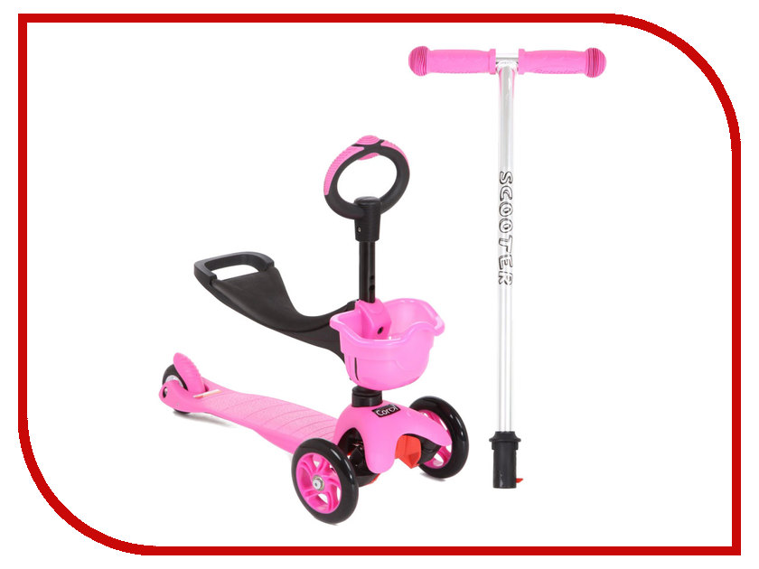 Самокат Corol L-306 Pink corol прогулочная s 3 светло серая