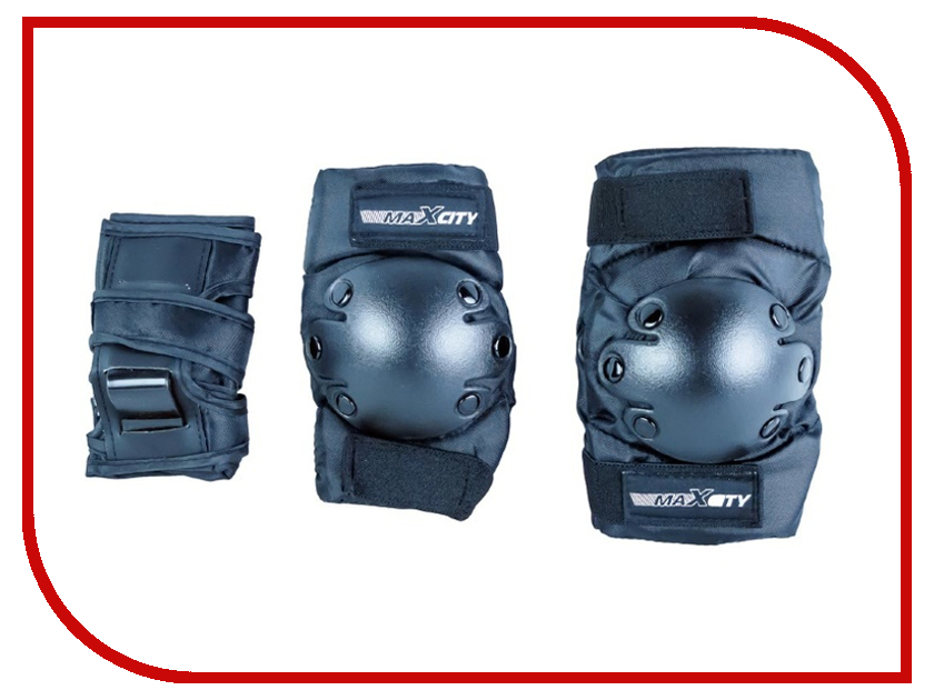 Комплект защиты Maxcity Classic M Black комплект защиты maxcity standard m