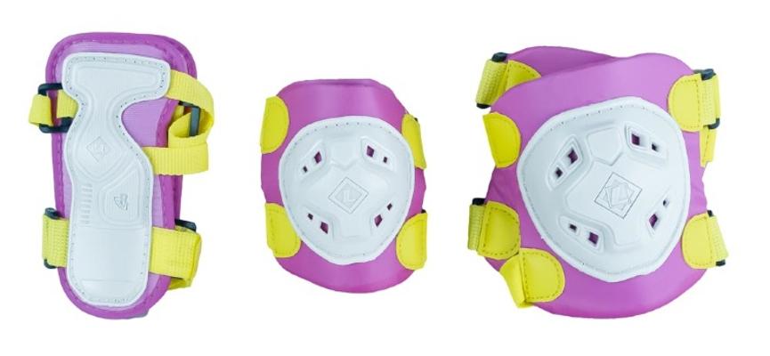 Комплект защиты Maxcity Game L Pink