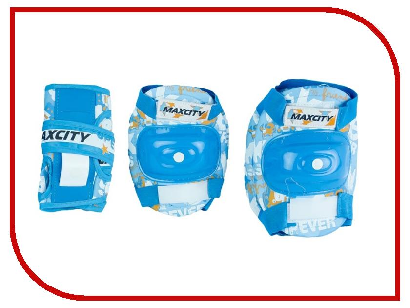 Комплект защиты Maxcity Teddy M Light Blue самокат maxcity mc fusion