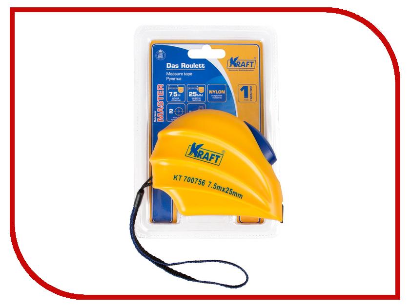 Рулетка Kraft 7.5m 700756