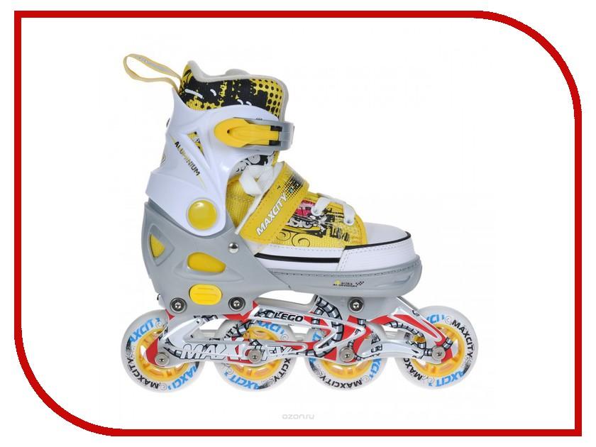 Коньки Maxcity Lego 29-32 Yellow