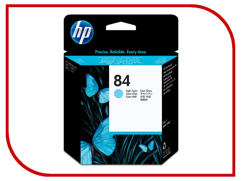 Картридж HP 84 C5017A Light Cyan для DJ 10/20/50ps hewlett packard hp omen игровой коврик для мыши