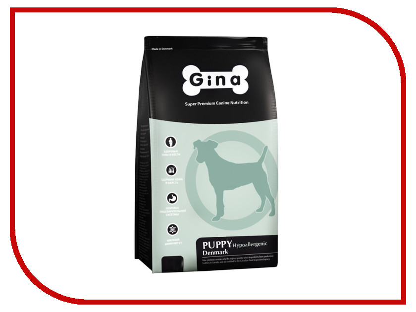 Корм Gina Puppy Hypoallergenic Denmark 3kg 080018.1 корм gina puppy hypoallergenic denmark 3kg 080018 1