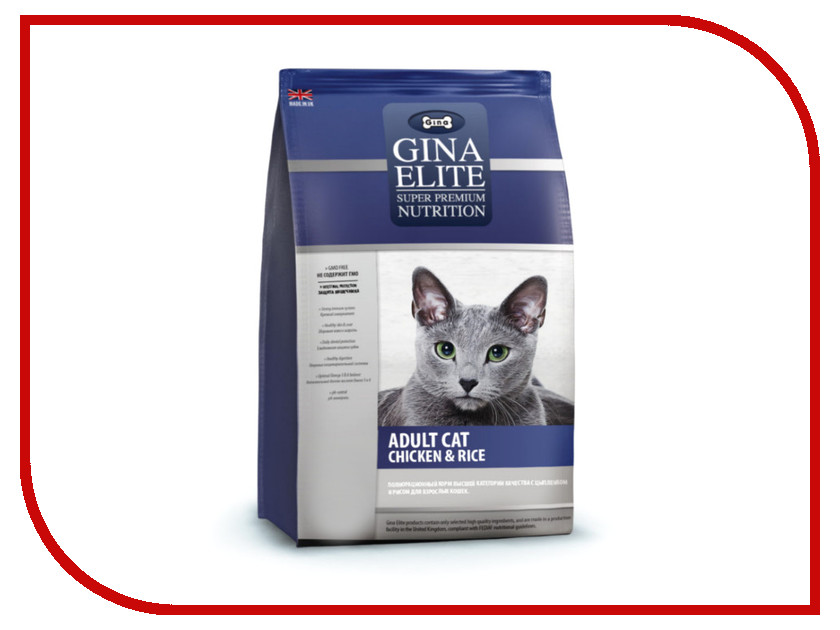 Корм Gina Elite Cat Chicken&Rice 3kg 780010.1