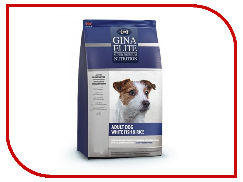 Корм Gina Elite Dog White fish&Rice 3kg